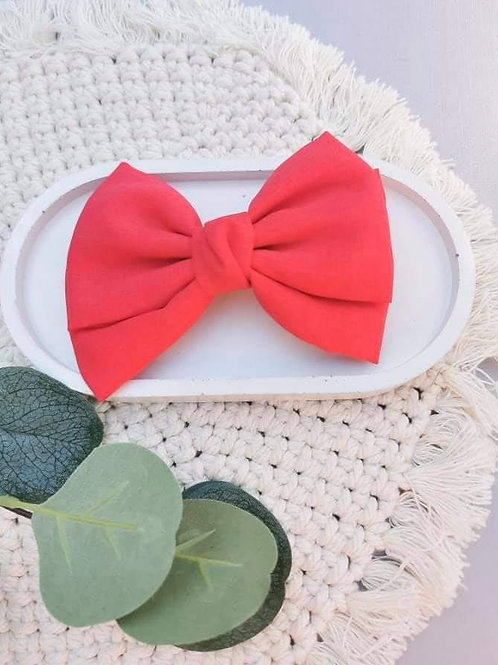 Bright Red || Oversized Fabric Bow