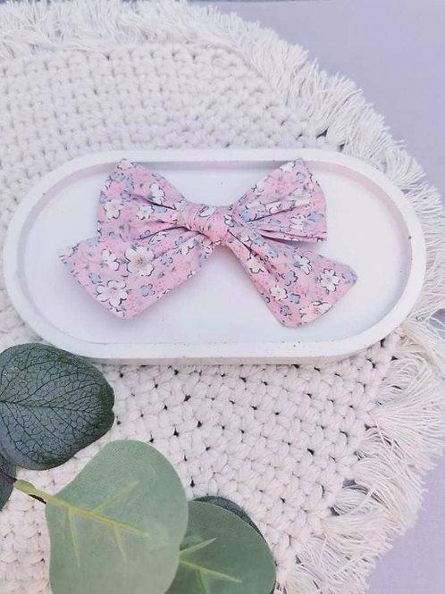 Pink Floral    XL Chloe Bow
