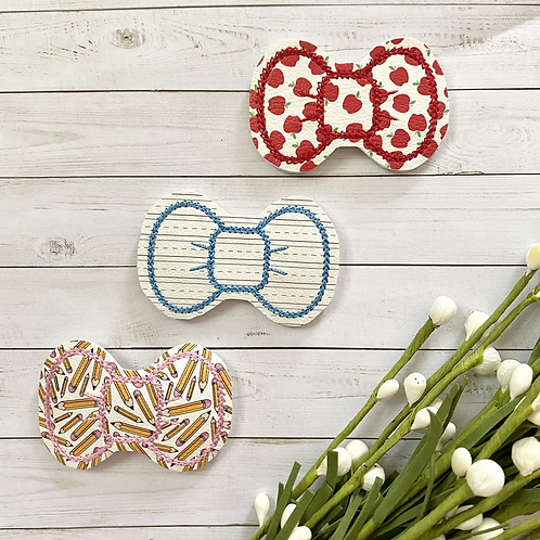 School Bows || Set of 3 || Snap Clips