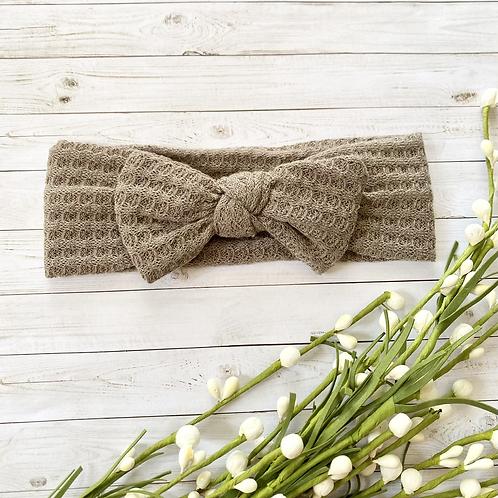 Mocha || Waffle Knit || Headband