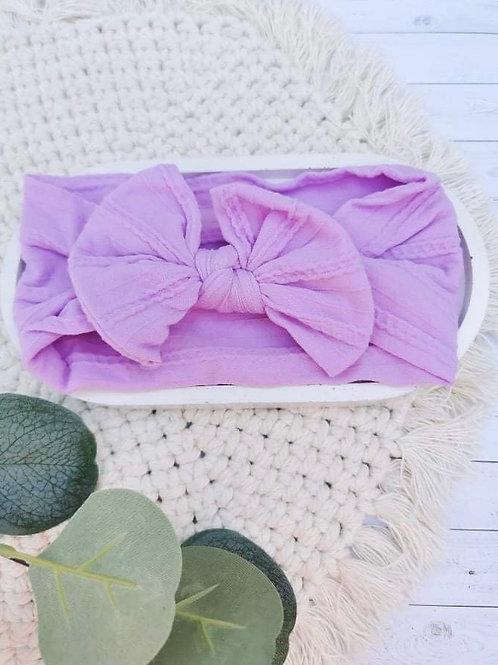 Lilac || Nylon Head Wrap