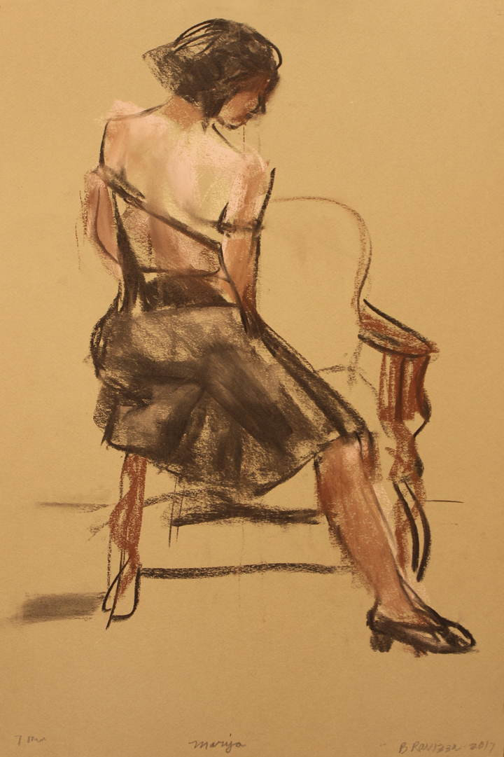 Sitting backwards off chair