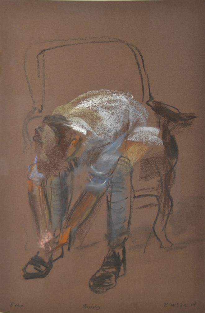 Model tying shoe