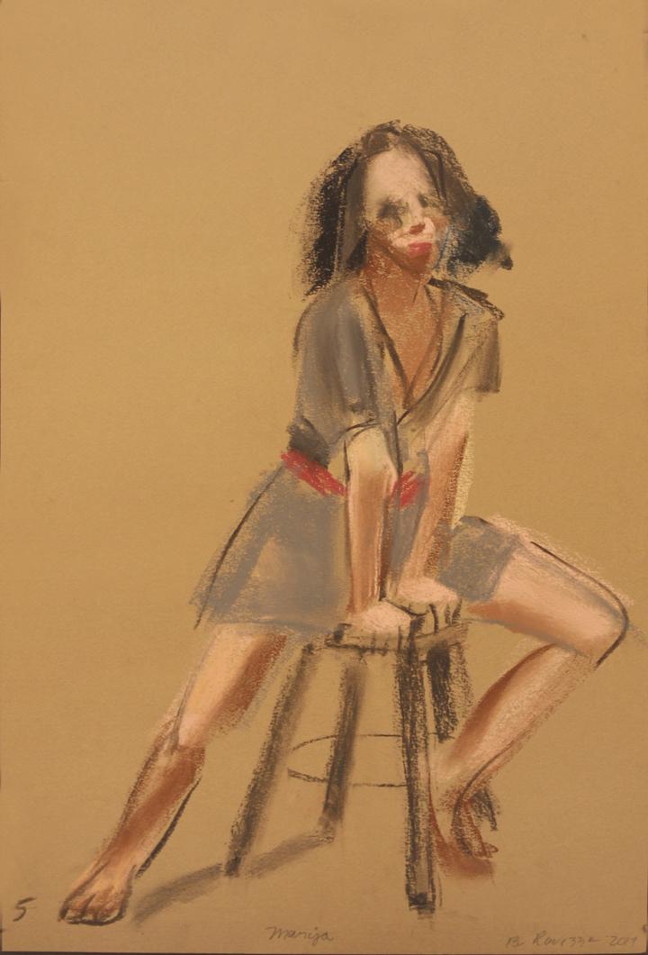 Model strattling stool