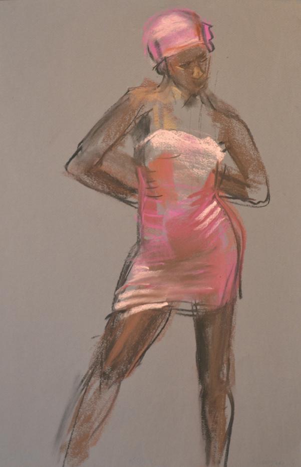 Posing in pink