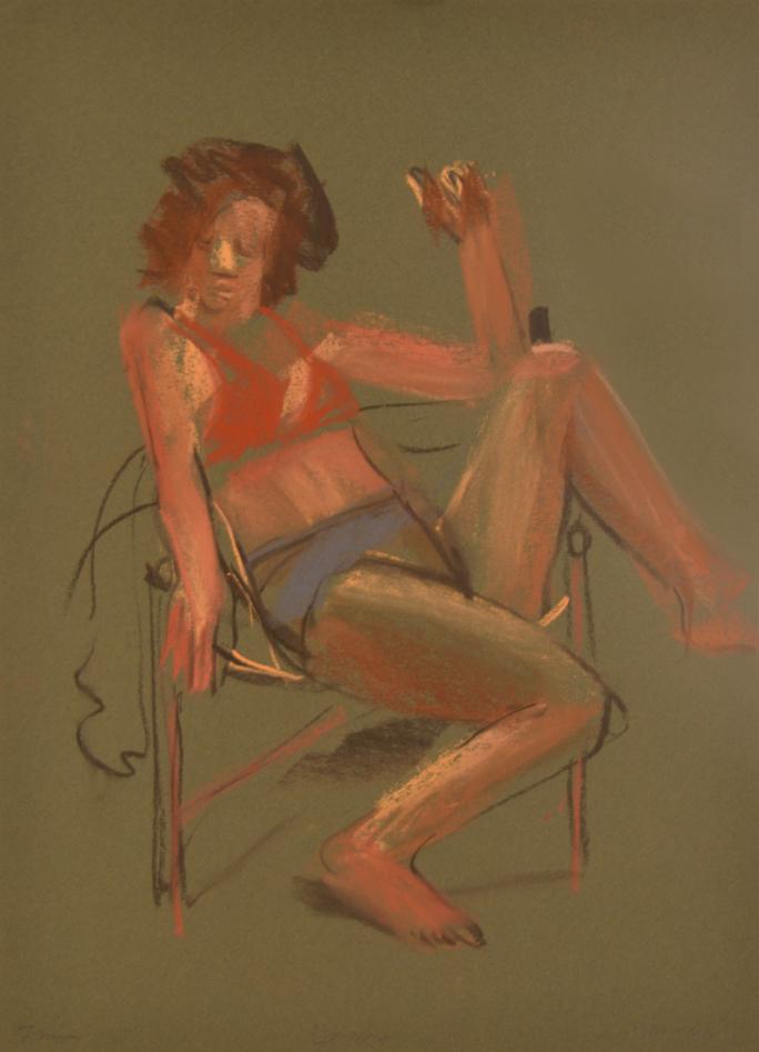 Model in chair