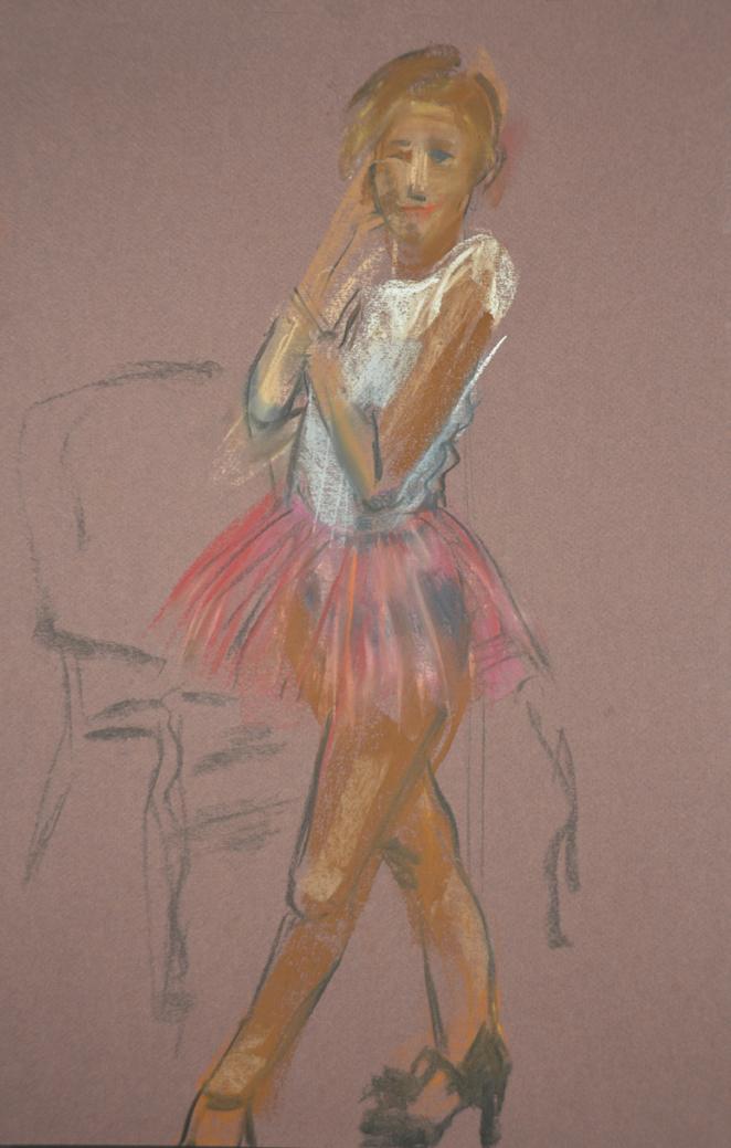 Conversation in pink tutu