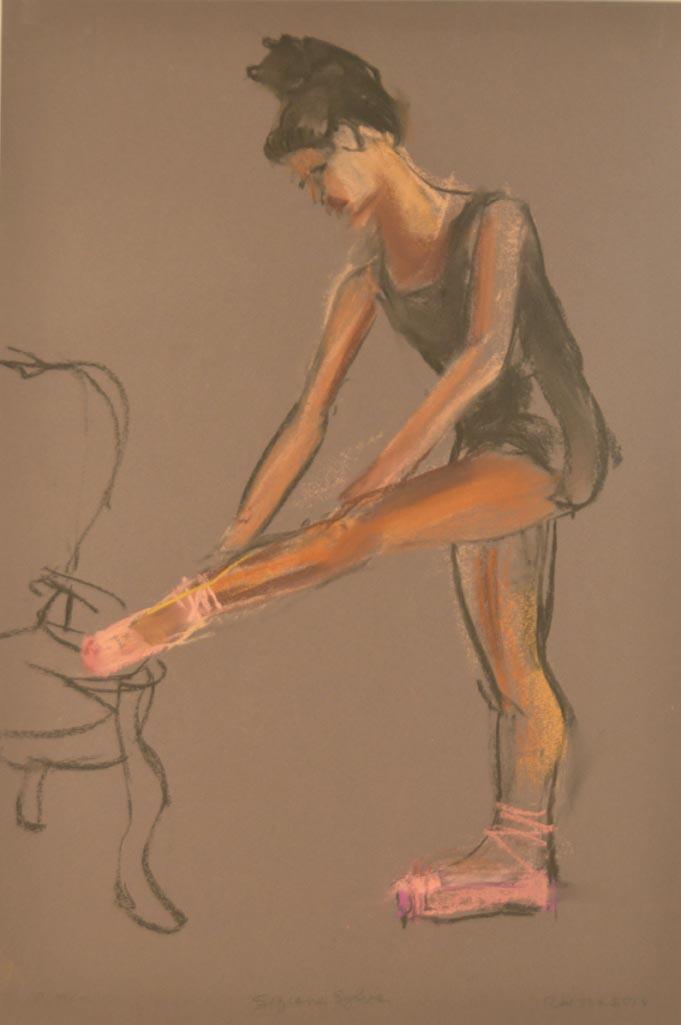 Sofianne tying slipper