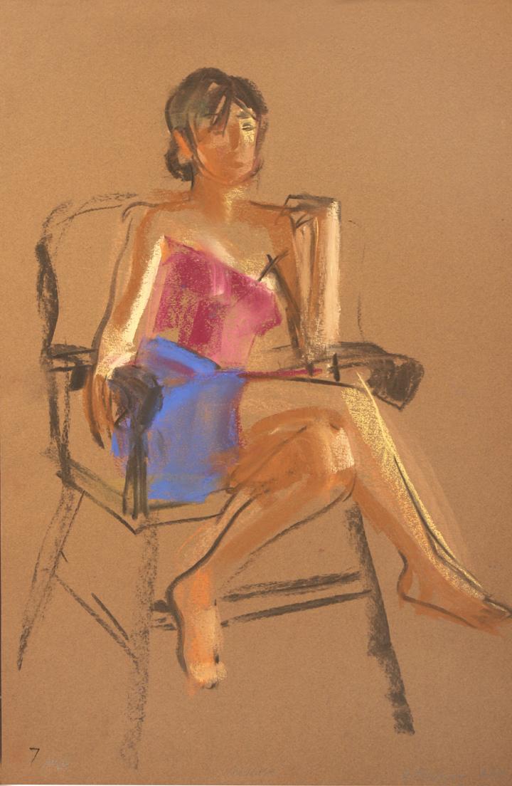 Crossed legs in chair