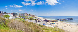 Boscombe Pier & Boscombe Beach in Bournemouth, Dorset