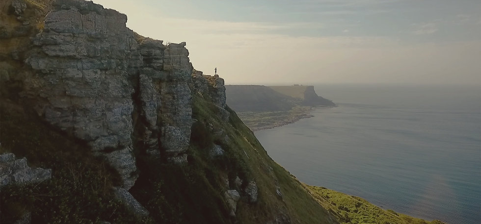 Screenshot of Jurassic Coast, Dorset from Social Media Video for Bournemouth, Christchurch & Poole Tourism's 'Take It In' StayHomeSaveLives Campaign