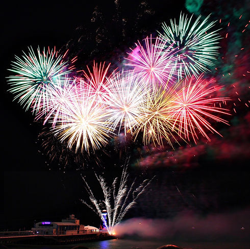 Fireworks Display Event at Bournemouth Pier