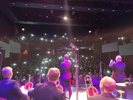 Sam Merrick with The Nick Ross Orchestra performing to a sell out audience at Lichfield Garrick Theatre