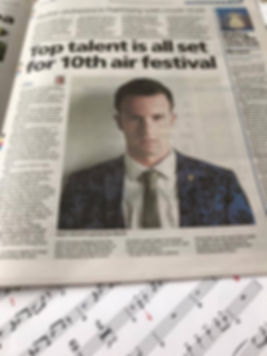 Bournemouth Daily Echo Feature on Sam Merrick's Big Band Headline Show at Bournemouth Air Festival with The Nick Ross Orchestra