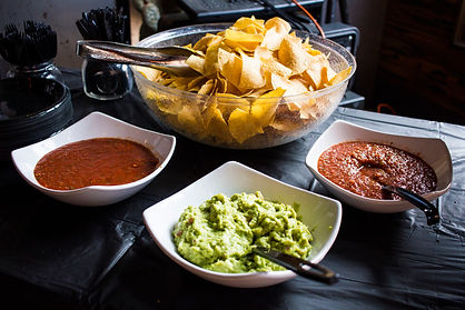 Chips with Salsa and Guacamole for Mexican Catering at Steel Cactus