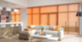 Living Room Verticals Beautiful Blinds