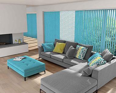 Living Room Verticals Beautiful Blinds