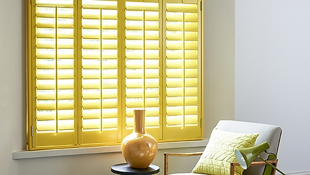 Yellow Wood Shutters Beautiful Blinds