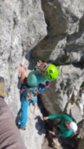 Learning to Trad Lead Climb at Holyhead Mountain
