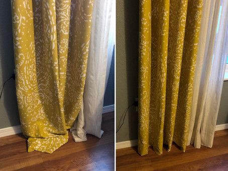 diy // curtain hemming
