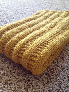 FINISHED | Garter Rib Baby Blanket