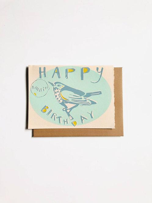 Happy Tweetin Birthday | Greeting Card