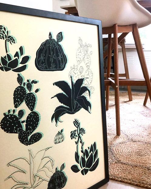 Large Cactus | Art Print