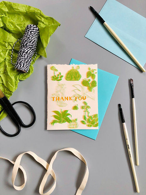 Thank You Large Cactus | Greeting Card