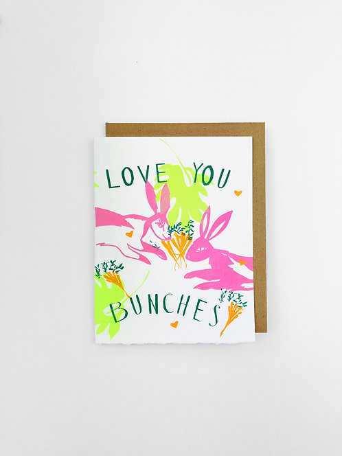 Love You Bunches | Greeting Card