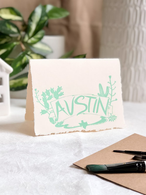 Austin Cactus | Greeting Card