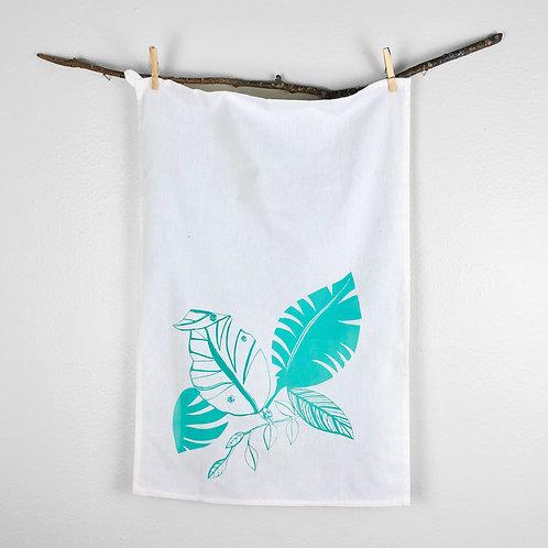 Tropical Leaves   Tea Towel
