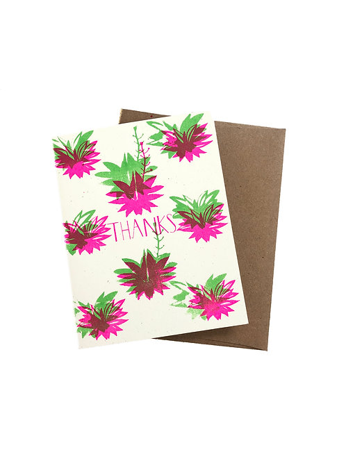 Thanks Agave - Greeting Card