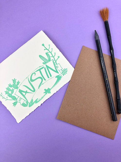 Austin Cactus | Greeting Card