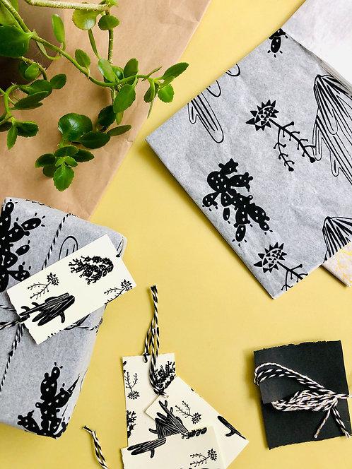 Screen Printed Gift Wrap Set