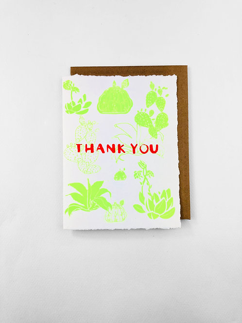 Thank You Large Cactus | Greeting Card