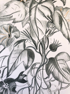 Pencil Floral // $20
