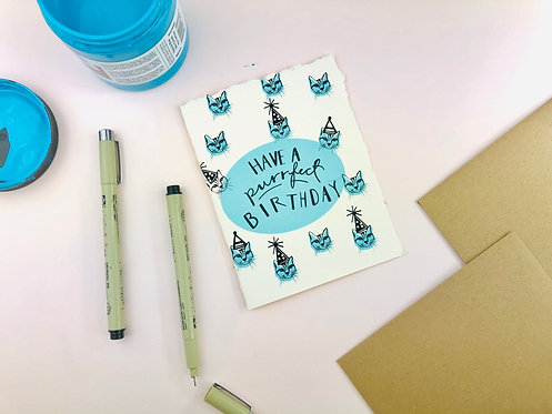 Have a Purrfect Birthday | Greeting Card
