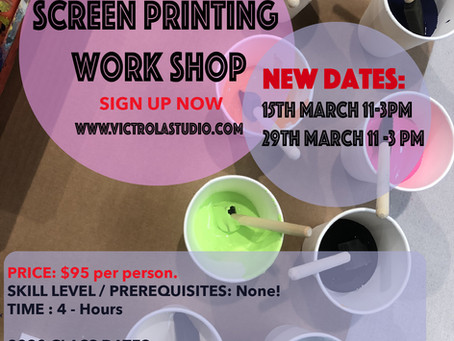 Screen Printing 101 with Victrola Design Studio