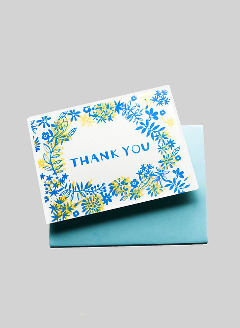 THANK YOU FLORAL - GREETING CARD