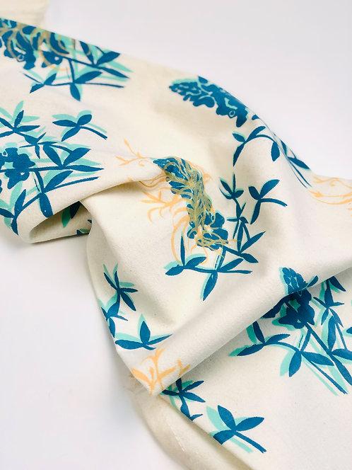 Blue Bonnet Floral | Tea Towel