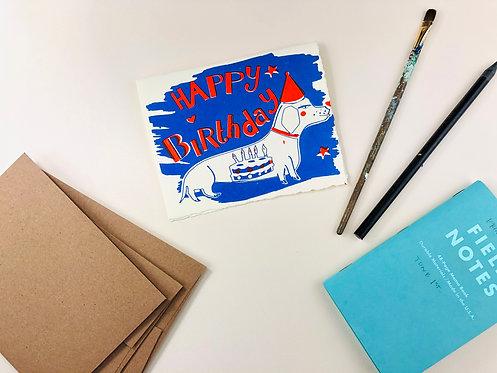 Happy Birthday Dog | Greeting Card