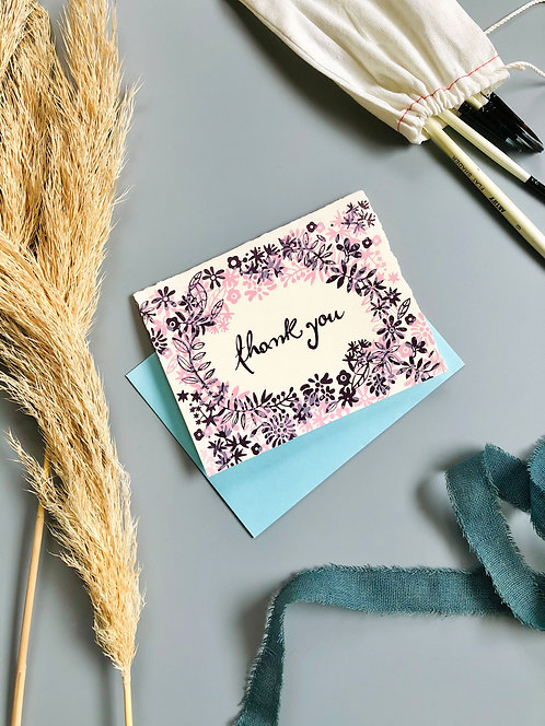 Thank You Floral | Greeting Card