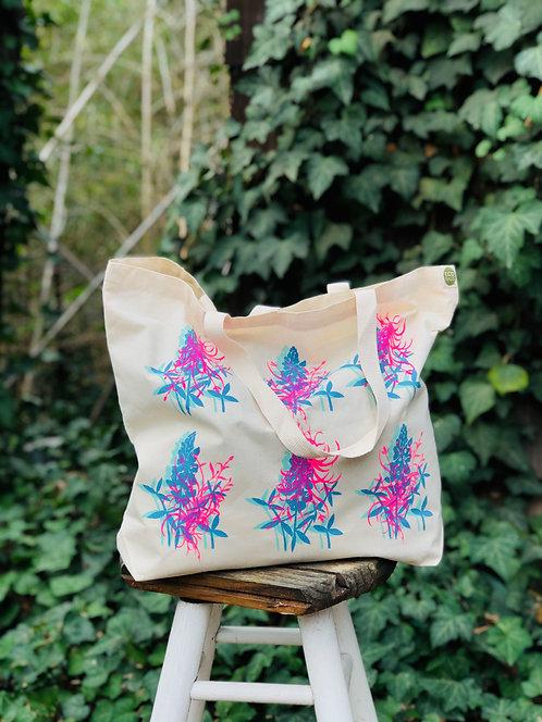 Blue Bonnet Floral | Tote Bag