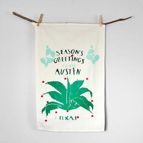 Seasons Greetings Ornament   Tea Towel