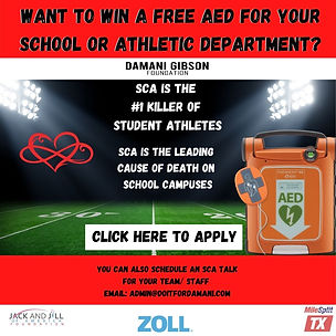 Apply to win a free AED for your school