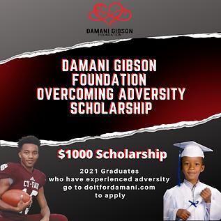 Damani gibson  foundation overcoming adversity scholarship.png