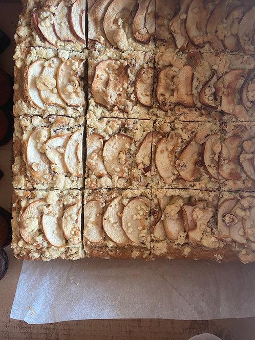 GF Vegan apple stem ginger cake& hazelnut crumble