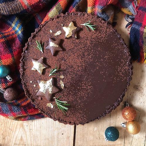 Gingerbread Chocolate AmarettoTart