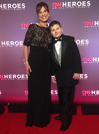 Leslie and Boy at CNN Heroes All Star Tribute