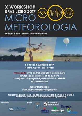 X Workshop Brasileiro 2017 - Micro Meteorologia